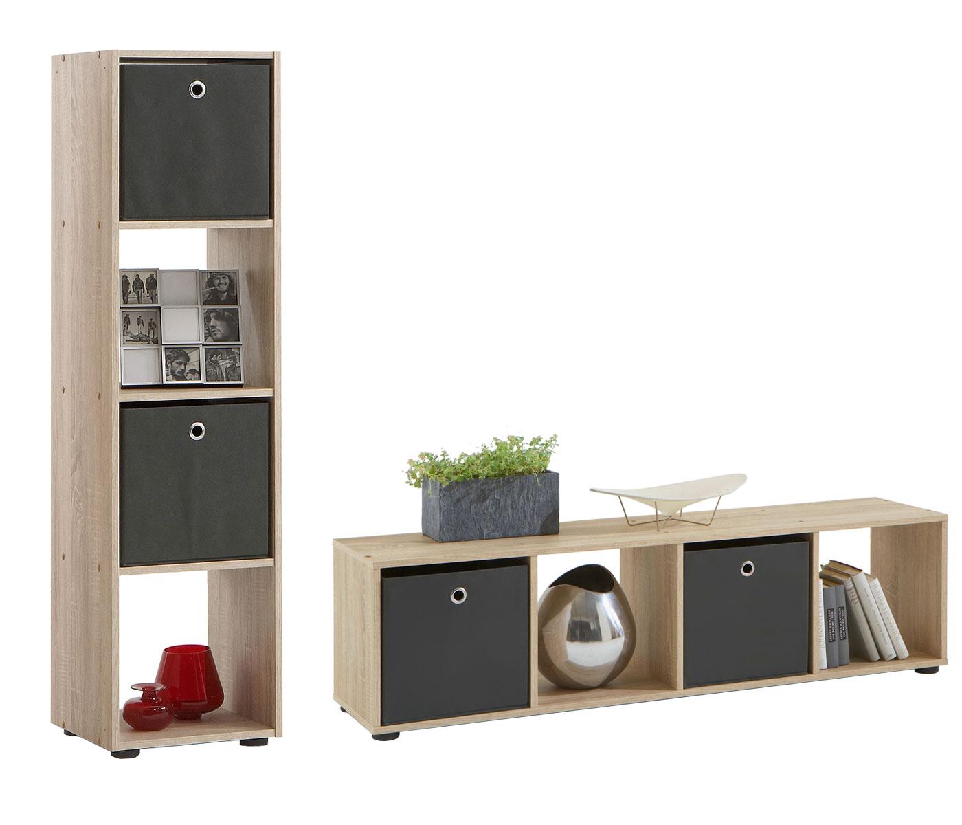 raumteiler mega b cherregal stufenregal regal 4 9 f cher faltboxen anthrazit ebay. Black Bedroom Furniture Sets. Home Design Ideas
