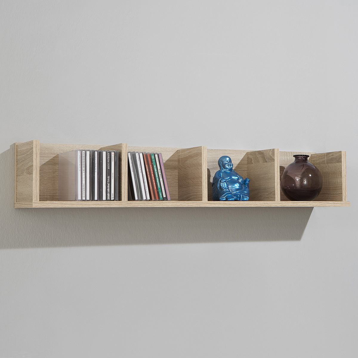 wandregal point 4 cd regal h ngeregal in sonoma eiche ebay. Black Bedroom Furniture Sets. Home Design Ideas