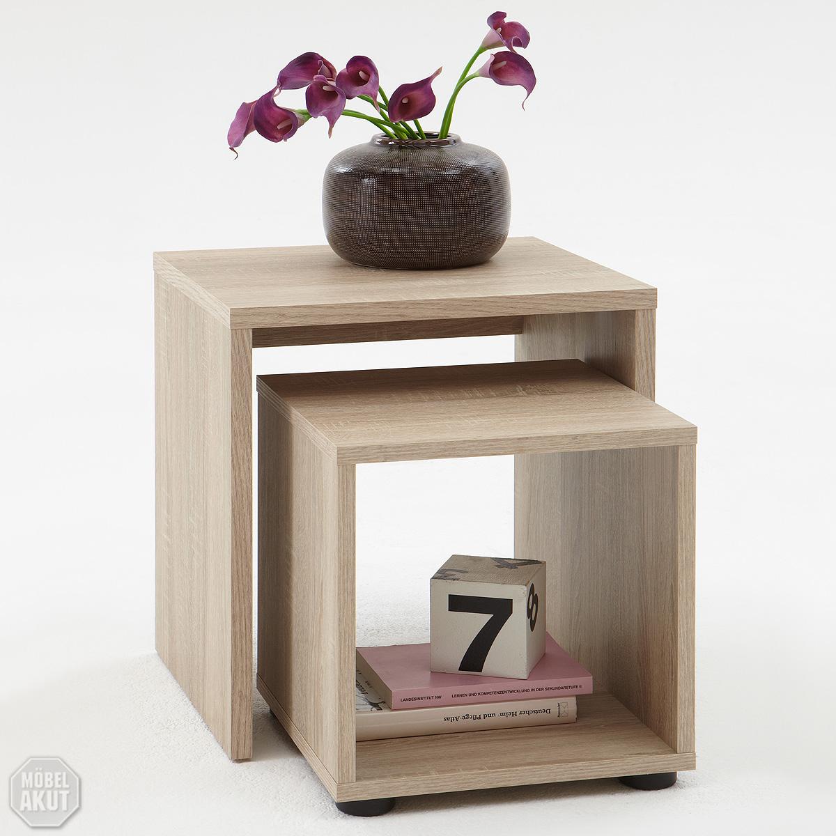 Tisch Sonoma Eiche ~ Beistelltisch set duo tisch couchtisch sonoma eiche ebay