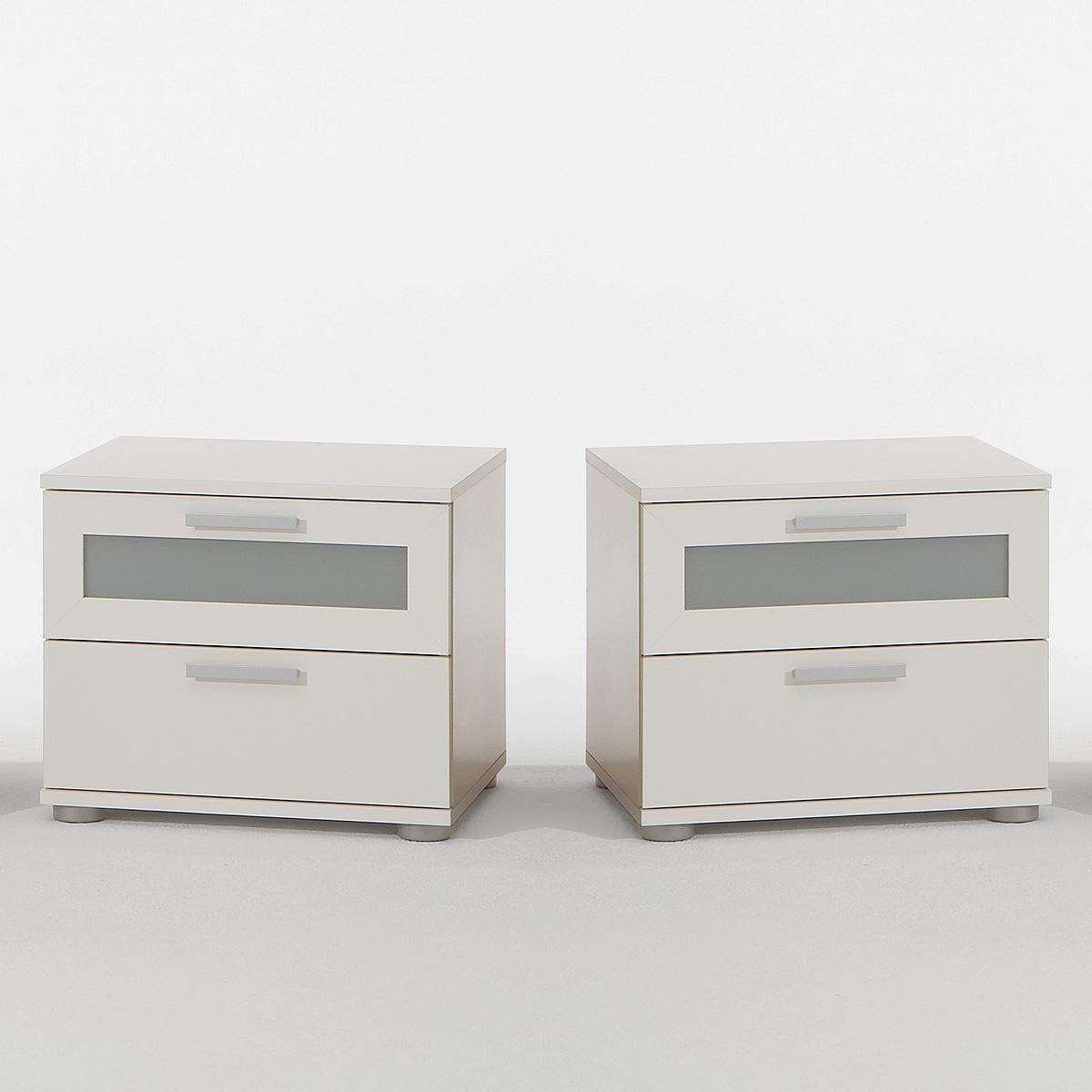 nachtkommode trials 2er set nachtkonsole nachttisch 3 farben 3 modelle auswahl ebay. Black Bedroom Furniture Sets. Home Design Ideas