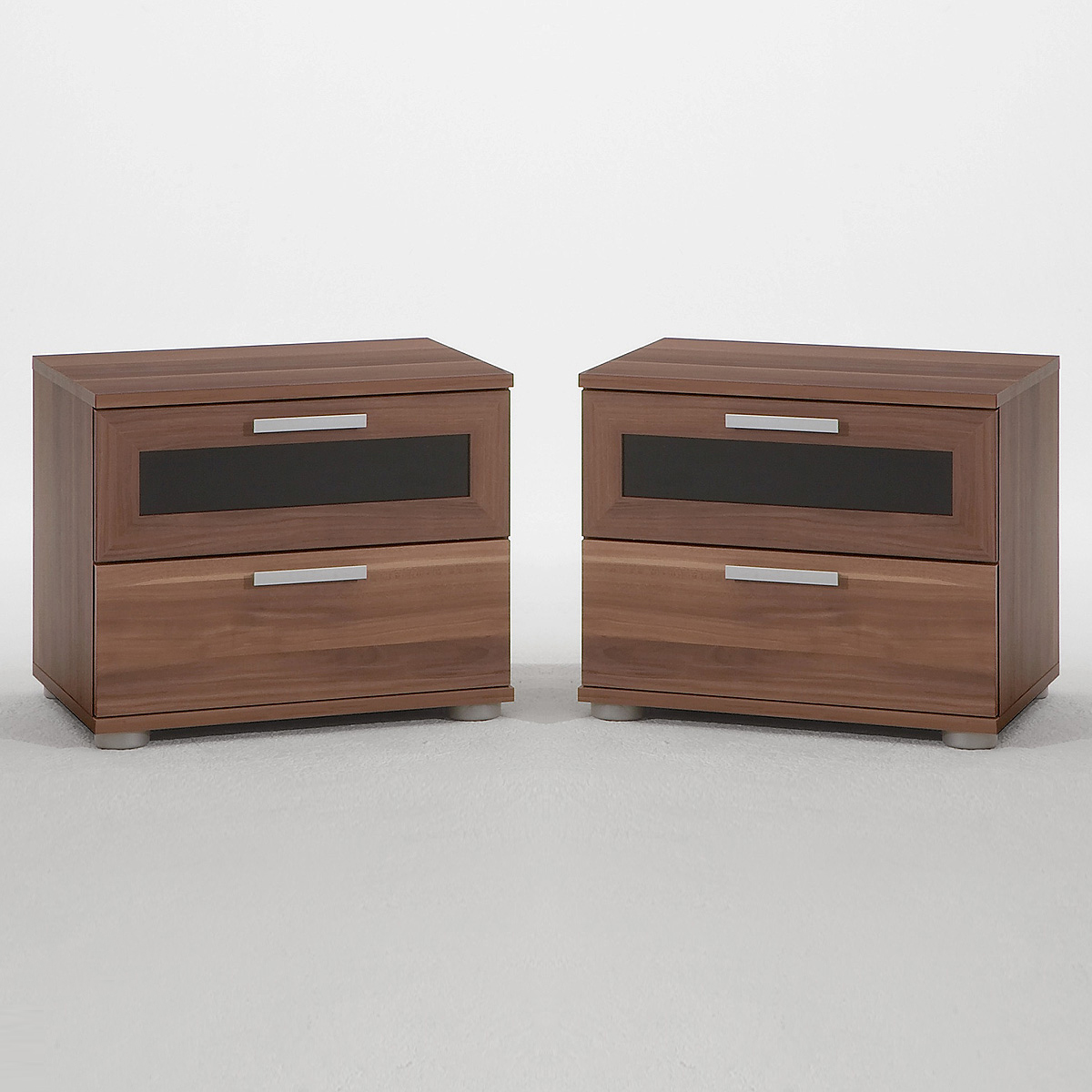 2er set nachtkonsole jack 1 nachtkommode kommode nussbaum. Black Bedroom Furniture Sets. Home Design Ideas