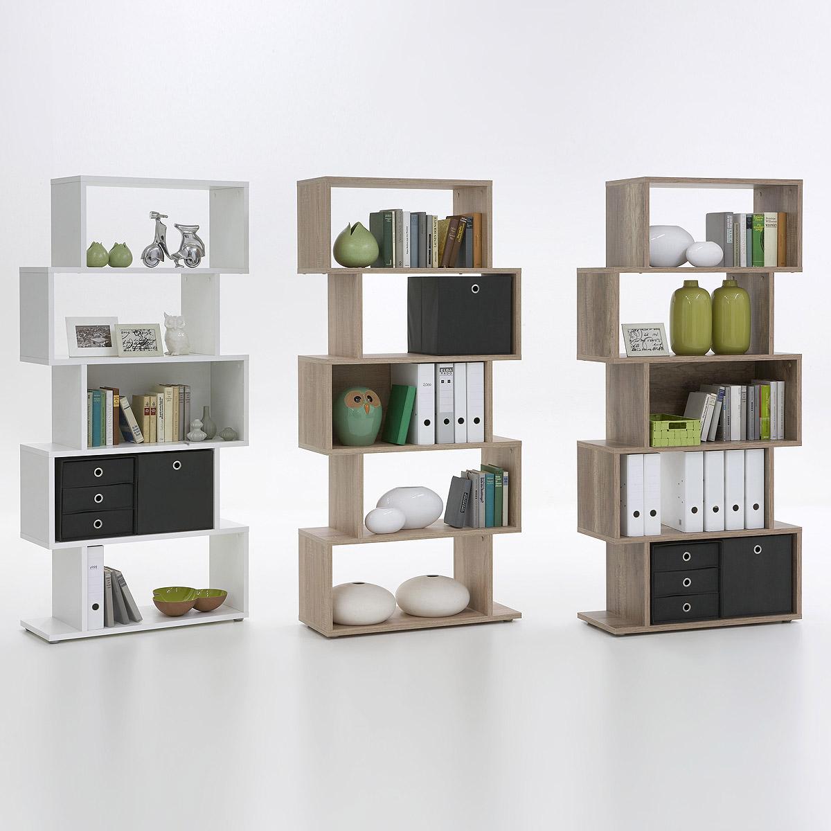regal kubi raumteiler ausf hrung w hlbar wei eiche oder wildeiche ebay. Black Bedroom Furniture Sets. Home Design Ideas