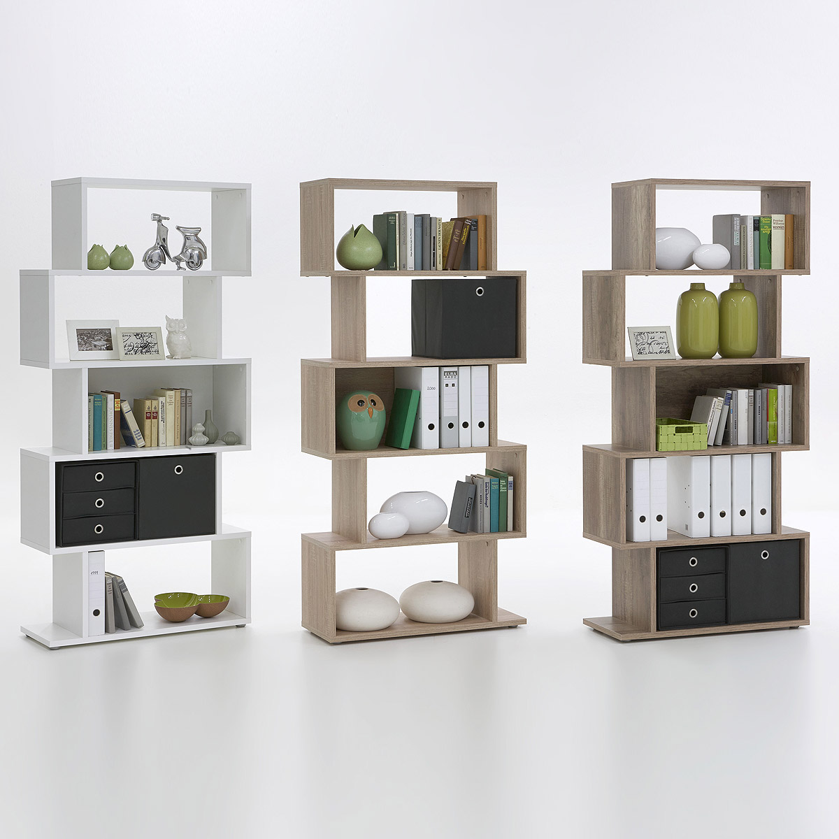 regal kubi raumteiler ausf hrung w hlbar wei eiche oder. Black Bedroom Furniture Sets. Home Design Ideas