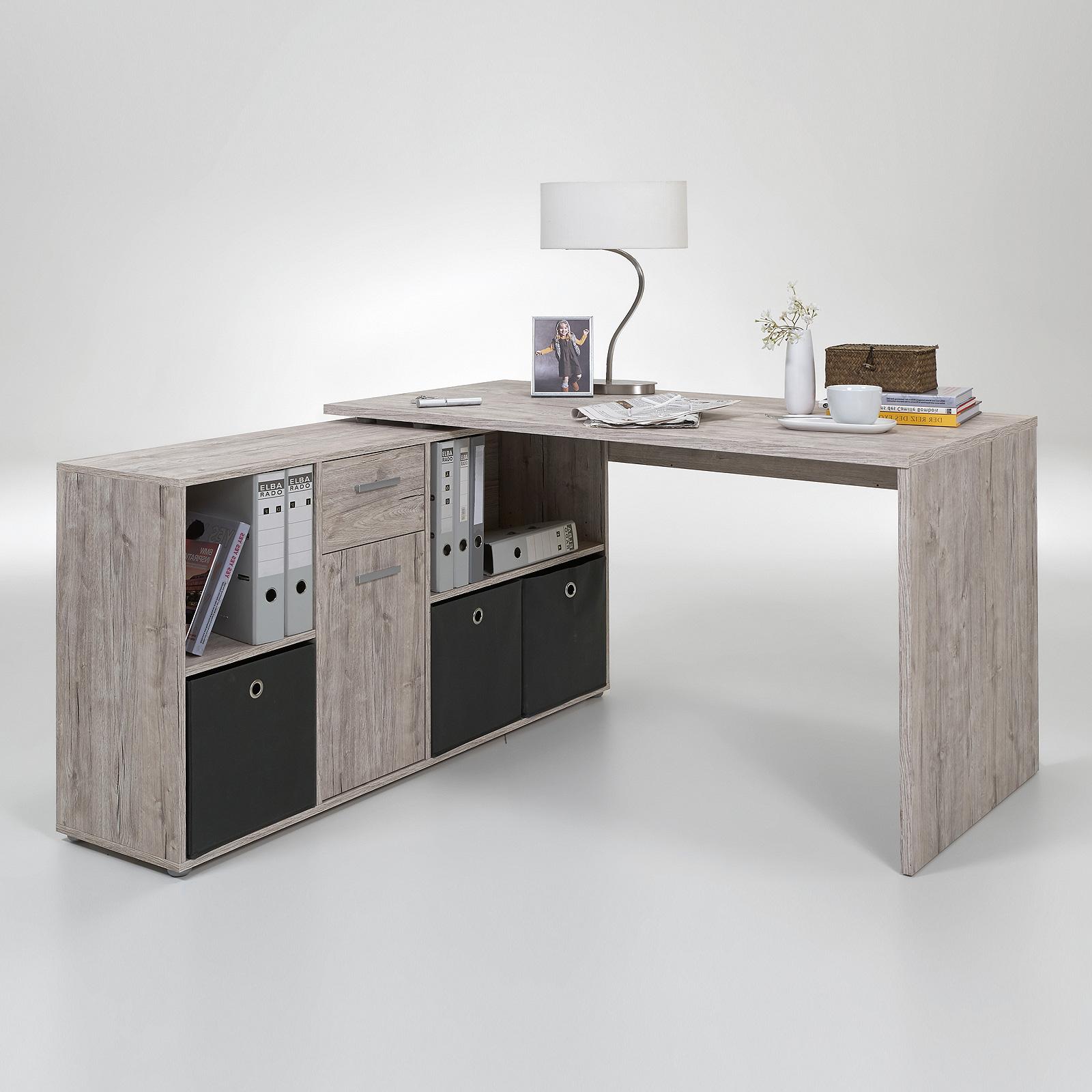 Schreibtisch lexx winkelkombination tisch b rotisch for Tisch schreibtisch