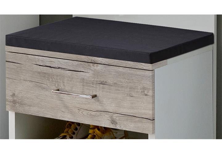 sitzbank shanghai up schuhbank wei hochglanz und sandeiche bank garderobe eur 59 95 picclick de. Black Bedroom Furniture Sets. Home Design Ideas