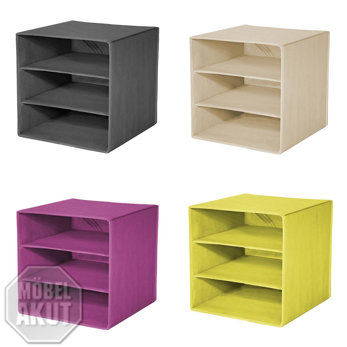 faltbox alfa 5 korb regal ablage mit farbauswahl ebay. Black Bedroom Furniture Sets. Home Design Ideas