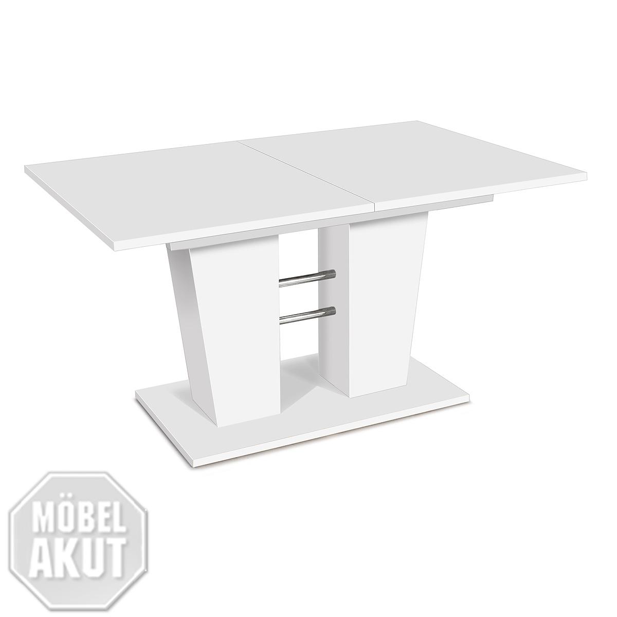 esstisch breda tisch ausziehbar 140 180x90 farbwahl wei eiche kernnuss ebay. Black Bedroom Furniture Sets. Home Design Ideas