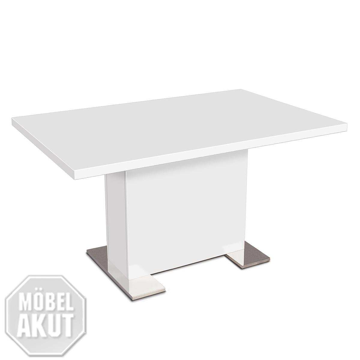 esstisch bonn tisch 140x90 farbwahl wei eiche kernnuss ebay. Black Bedroom Furniture Sets. Home Design Ideas