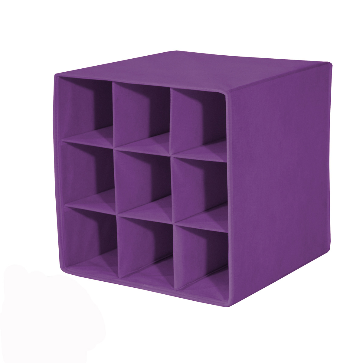 faltbox alfa 4 korb regal flaschenablage box farbe brombeere ebay. Black Bedroom Furniture Sets. Home Design Ideas
