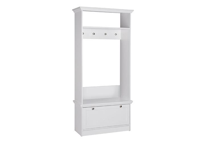 garderobe landwood 41 landhausstil flurgarderobe mit klappe wei ebay. Black Bedroom Furniture Sets. Home Design Ideas