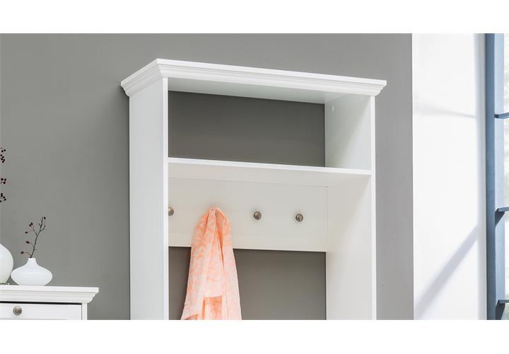 Kompaktgarderobe landwood garderobe flur diele in wei mit for Kompaktgarderobe im landhausstil