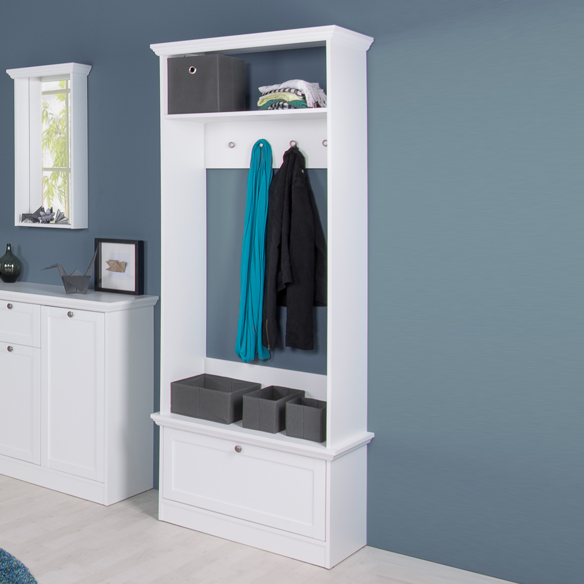 garderobe landwood 41 landhausstil flurgarderobe mit. Black Bedroom Furniture Sets. Home Design Ideas