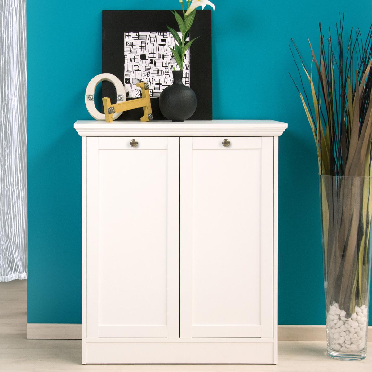 kommode landwood landhausstil schrank 2 t rig wei ebay. Black Bedroom Furniture Sets. Home Design Ideas