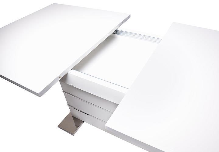 Esstisch 100x100 Ausziehbar Weiß : Details about Tisch Mantova Esstisch weiß ausziehbar 160-200x90 cm