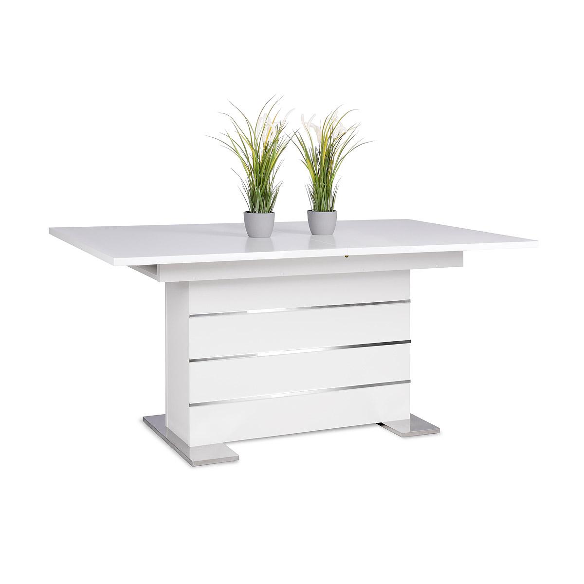 Esstisch 100x100 Ausziehbar Weiß : Tisch Mantova Esstisch Weiß Ausziehbar 160 200x90 Cm  eBay