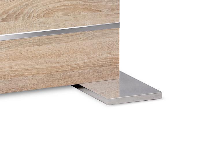 tisch mantova esstisch sonoma eiche ausziehbar 160 200x90 cm. Black Bedroom Furniture Sets. Home Design Ideas