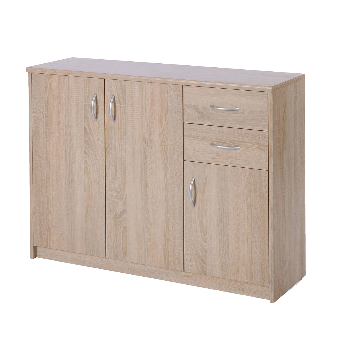sideboard kiel 2 anrichte kommode sonoma eiche mit 3 t ren und 2 schubk sten eur 67 95. Black Bedroom Furniture Sets. Home Design Ideas