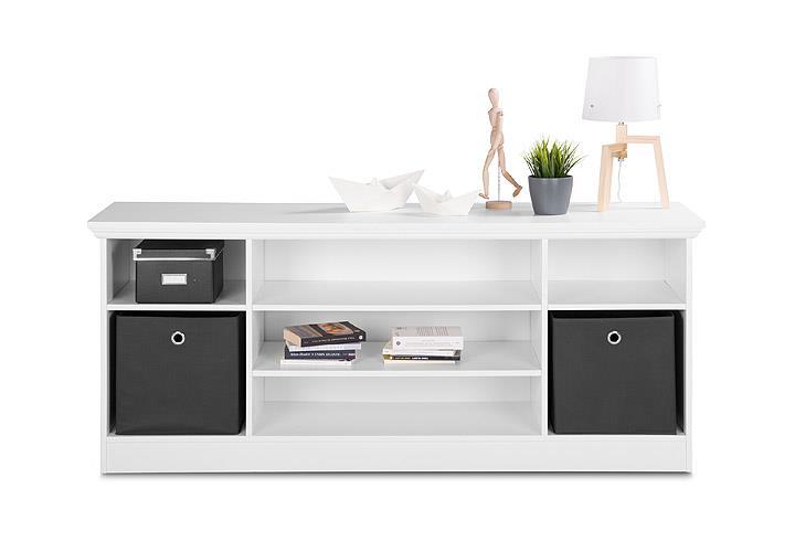 tv lowboard landwood 16 kommode unterschrank wei ebay. Black Bedroom Furniture Sets. Home Design Ideas