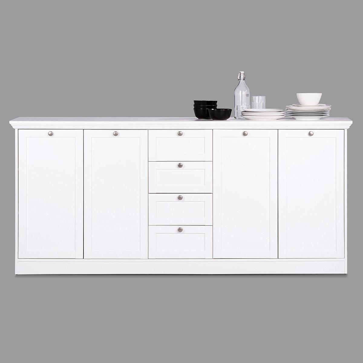 sideboard landwood 52 landhausstil anrichte kommode wei 4. Black Bedroom Furniture Sets. Home Design Ideas