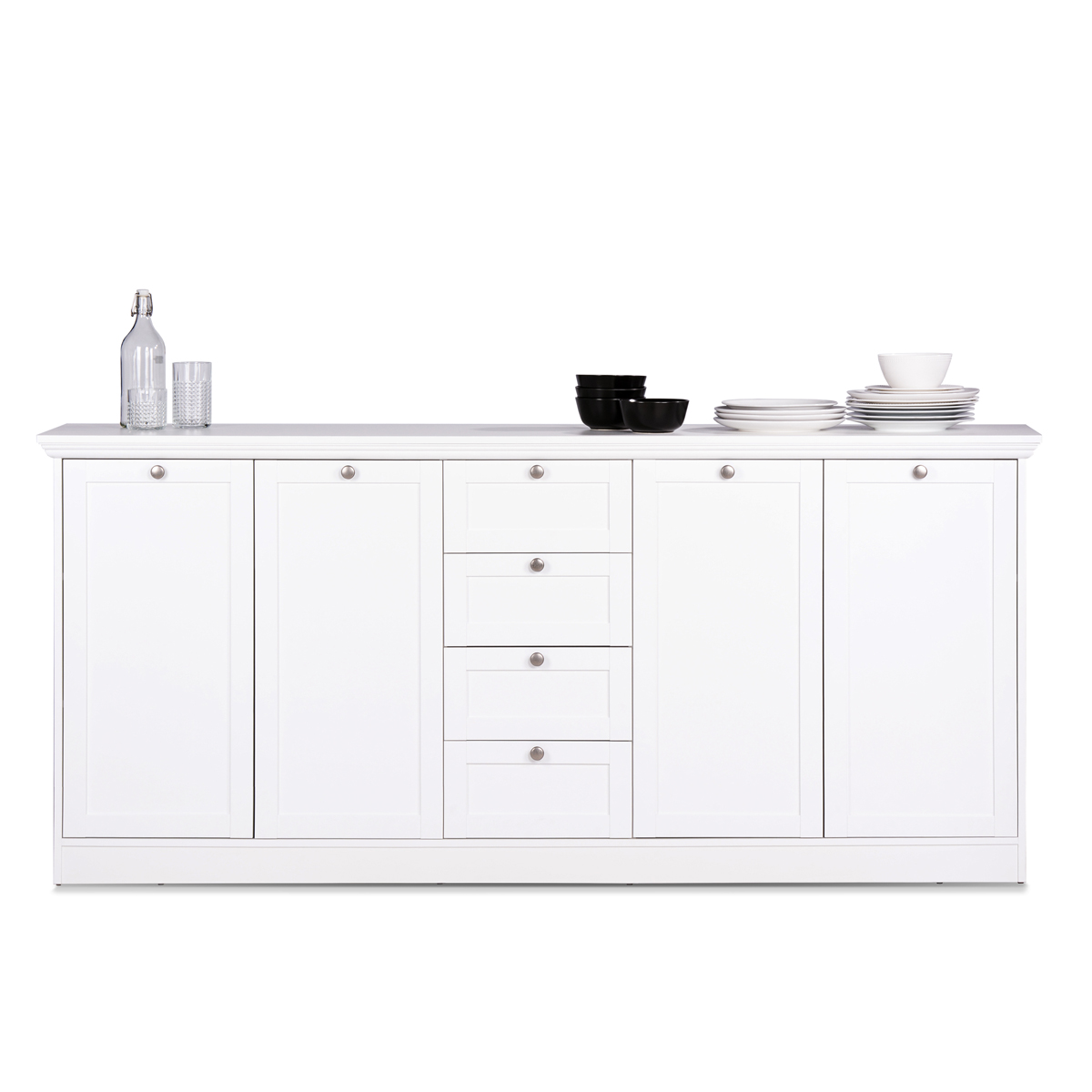 sideboard landwood 52 landhausstil anrichte kommode wei 4. Black Bedroom Furniture Sets. Home Design Ideas