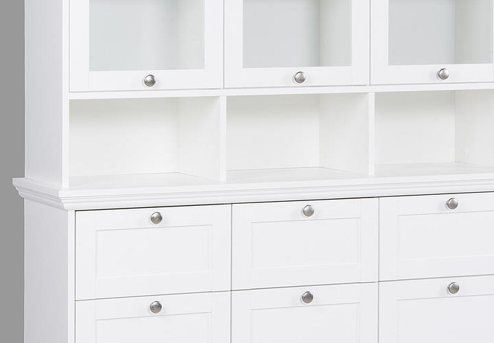 buffet landwood landhausstil anrichte vitrine schrank esszimmer wei ebay. Black Bedroom Furniture Sets. Home Design Ideas