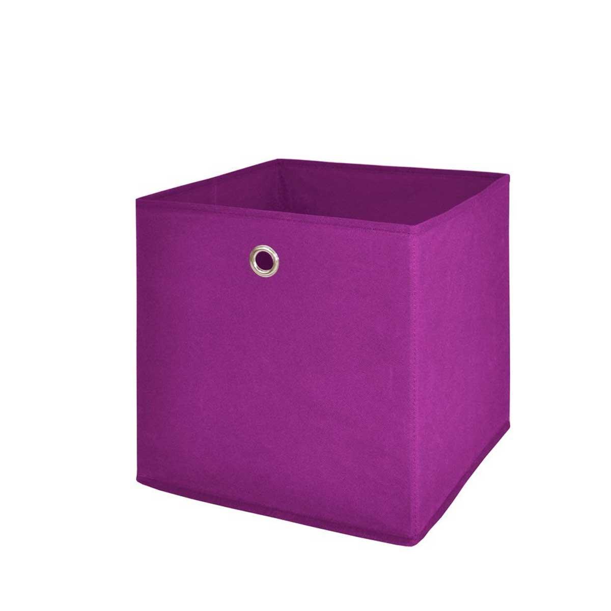 faltbox flori 2 korb regal aufbewahrungsbox box 24x24x24 cm lila ebay. Black Bedroom Furniture Sets. Home Design Ideas