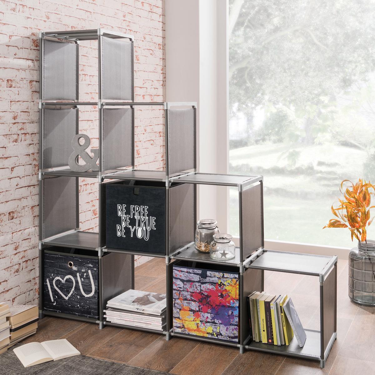 regalsystem quicktec steckregal anthrazit stufenregal raumteiler regalsystem bad ebay. Black Bedroom Furniture Sets. Home Design Ideas