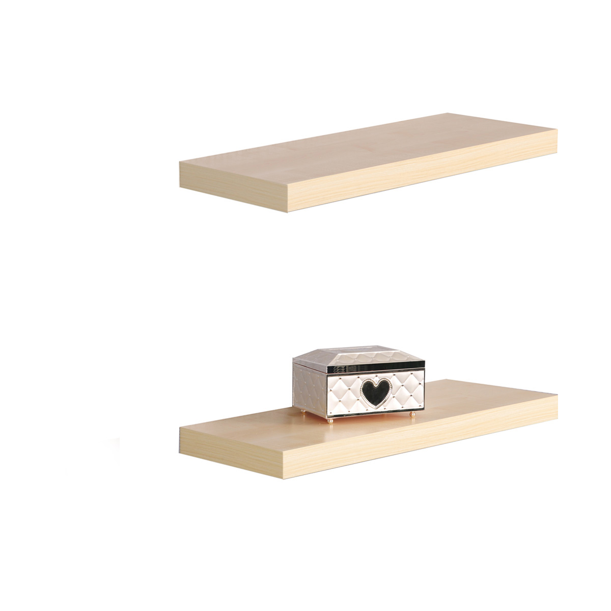 wandboard 2er set tuna 2 wandregal 60cm buche dekor versteckte befestigung ebay. Black Bedroom Furniture Sets. Home Design Ideas