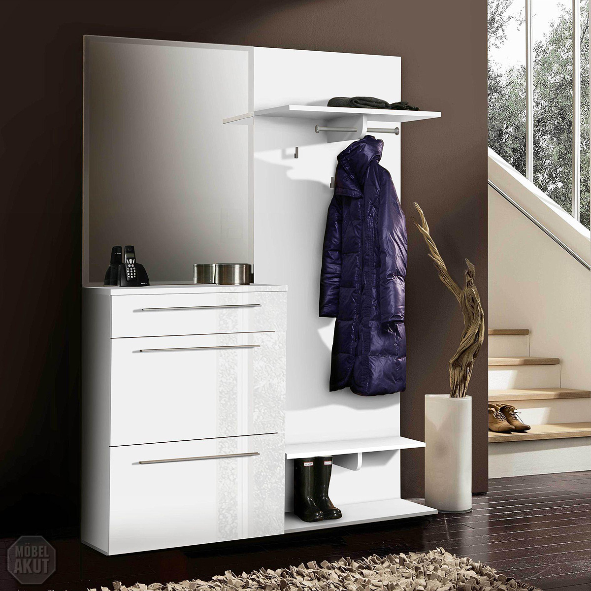 garderobenset sanor garderobe schuhschrank paneel. Black Bedroom Furniture Sets. Home Design Ideas