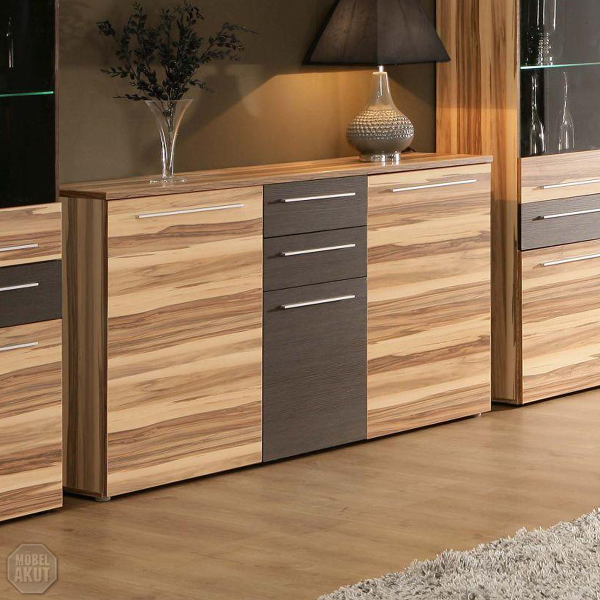 sideboard fondo kommode anrichte in baltimore walnuss braun neu ebay. Black Bedroom Furniture Sets. Home Design Ideas