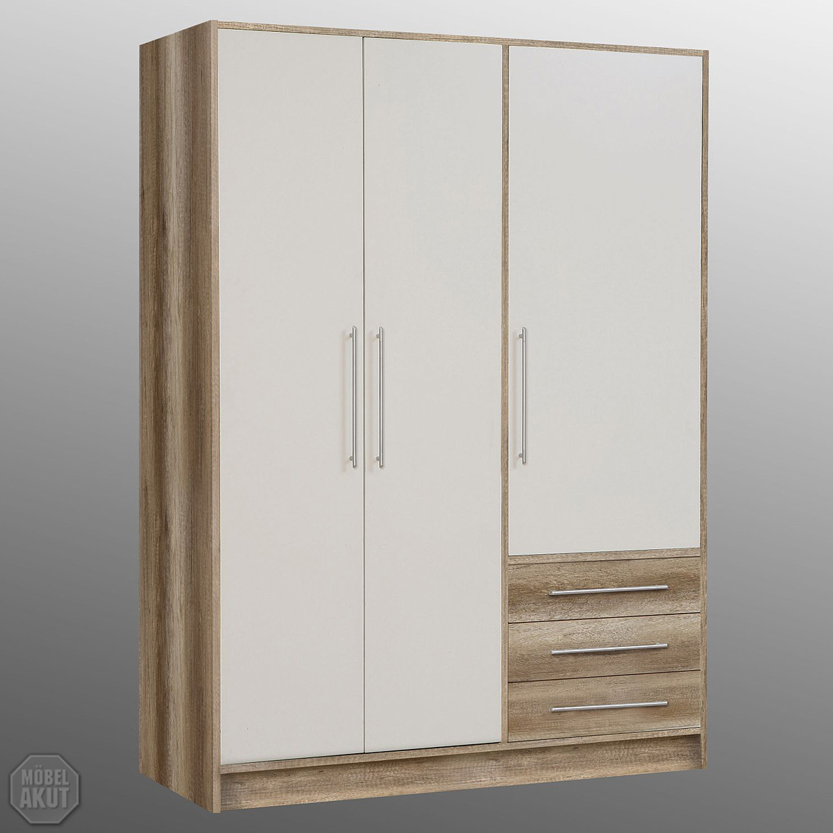 kleiderschrank jupiter schrank in sonoma eiche s gerau antik und wei 144 cm ebay. Black Bedroom Furniture Sets. Home Design Ideas