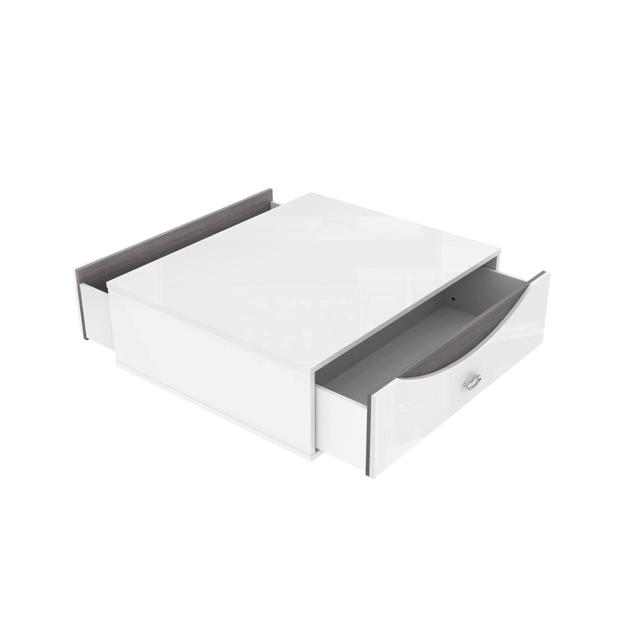 couchtisch wave wohnzimmer tisch wei hochglanz eiche grau ebay. Black Bedroom Furniture Sets. Home Design Ideas