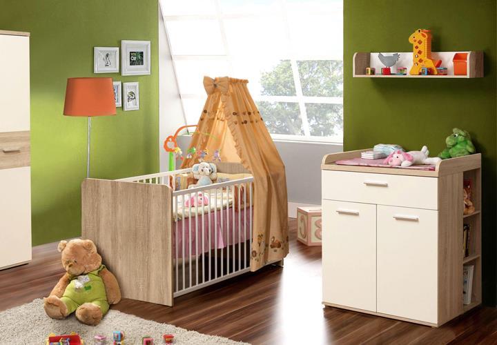 Wickelkommode Winnie 2-türig Babyzimmer Sonoma Eiche Dekor und ...