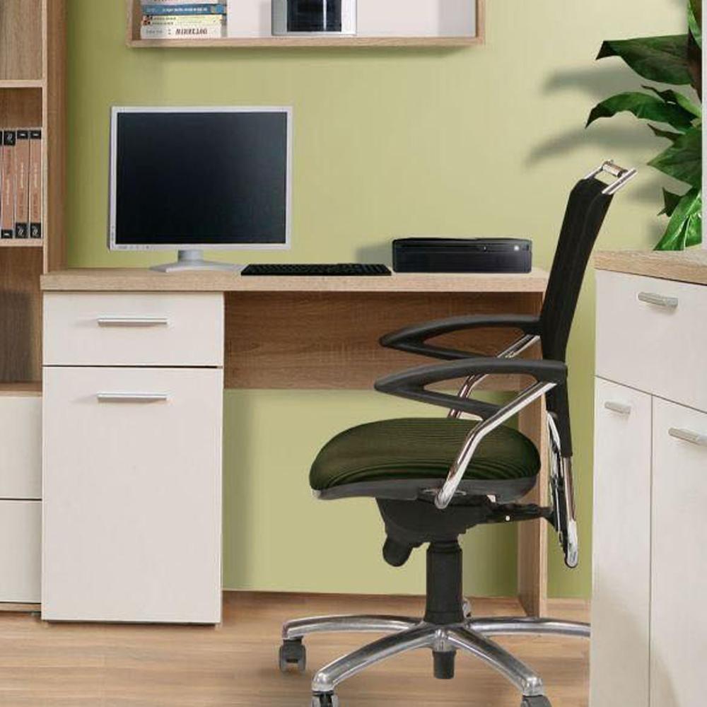 schreibtisch winnie jugendzimmer sonoma eiche wei mit 1 t r und 1 schubkasten. Black Bedroom Furniture Sets. Home Design Ideas