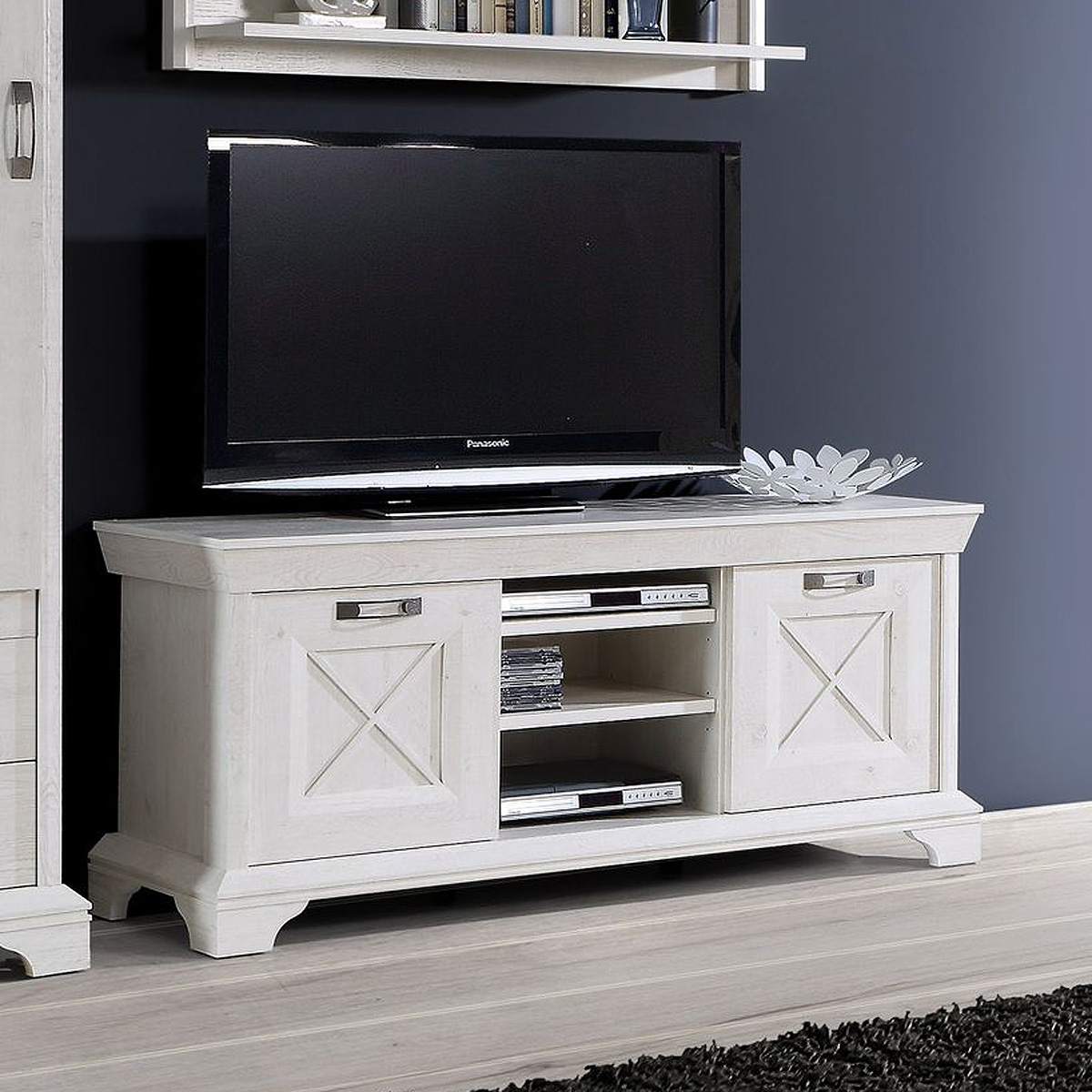 tv board 2 kashmir lowboard tv unterschrank fernsehschrank. Black Bedroom Furniture Sets. Home Design Ideas