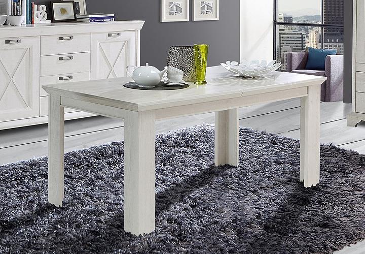 esstisch kashmir tisch esszimmertisch in pinie wei ausziehbar 160 205 eur 209 95 picclick de. Black Bedroom Furniture Sets. Home Design Ideas
