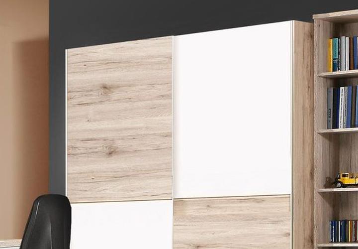 schwebet renschrank beach schrank kleiderschrank sandeiche wei 150 cm. Black Bedroom Furniture Sets. Home Design Ideas