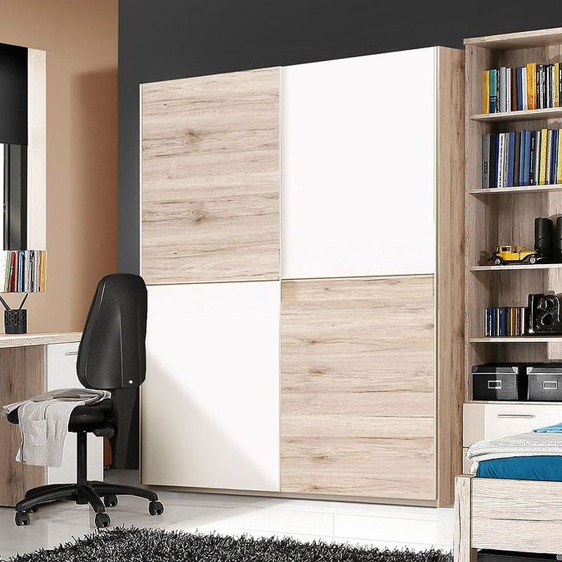 schwebet renschrank beach schrank kleiderschrank sandeiche wei 150 cm. Black Bedroom Furniture Sets. Home Design Ideas