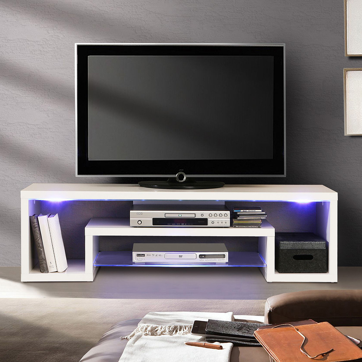 Tv Bord Led Tv Board Mit Led Beleuchtung Pictures To Pin On  # Porta Fernsehschrank