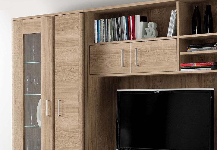 wohnwand belmondo anbauwand wohnkombi wohnzimmer sonoma. Black Bedroom Furniture Sets. Home Design Ideas