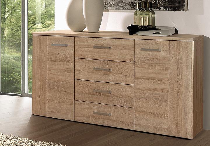 sideboard belmondo kommode anrichte stauraumelement sonoma eiche ebay. Black Bedroom Furniture Sets. Home Design Ideas