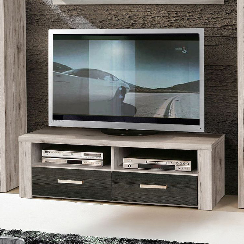 fmd m bel variant 21 tv hifi regal holz sandeiche 118 x 50 x 57 cm smash. Black Bedroom Furniture Sets. Home Design Ideas
