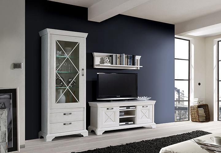 vitrine kashmir standvitrine glasvitrine schrank buffet in pinie wei inkl led. Black Bedroom Furniture Sets. Home Design Ideas