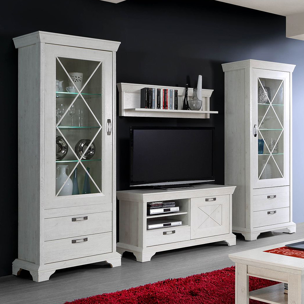 bunte retro wanduhr. Black Bedroom Furniture Sets. Home Design Ideas