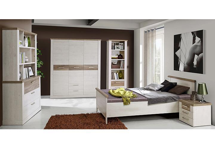 bett duro jugendzimmerbett seniorenbett in pinie wei und. Black Bedroom Furniture Sets. Home Design Ideas