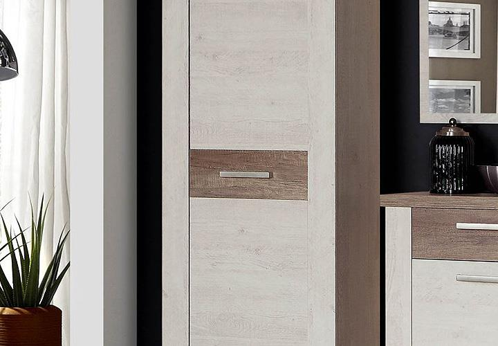 garderobenset duro garderobe schrank schuhschrank spiegel. Black Bedroom Furniture Sets. Home Design Ideas