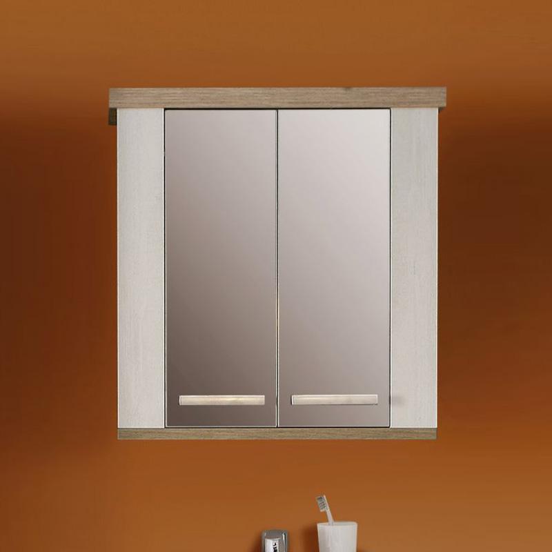 h ngeschrank duro badezimmerschrank spiegelschrank pinie. Black Bedroom Furniture Sets. Home Design Ideas