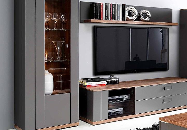 wohnwand burgos anbauwand wohnzimmer wolfram grau sangallo. Black Bedroom Furniture Sets. Home Design Ideas