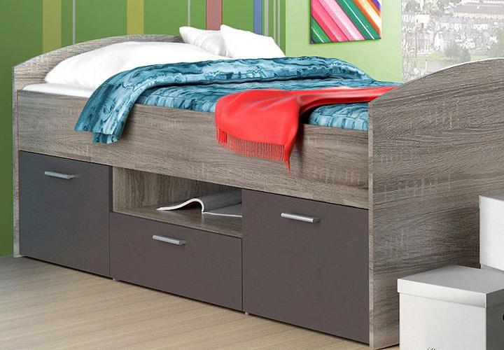 Jugendzimmer Jimmy Kinderzimmer Bett Schrank Regal Sonoma Eiche ...