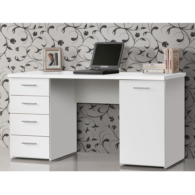 schreibtisch net 106 home office b rotisch computertisch pc tisch wei matt ebay. Black Bedroom Furniture Sets. Home Design Ideas
